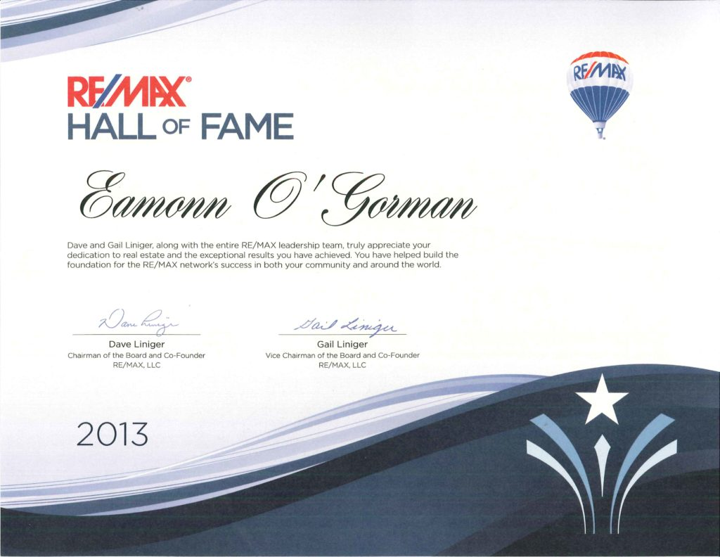 2013 REMAX Hall of Fame